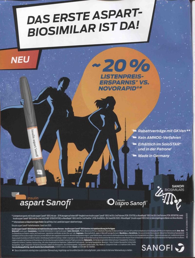 SANOFI_Insulin aspart Sanofi (Typ1)_202009