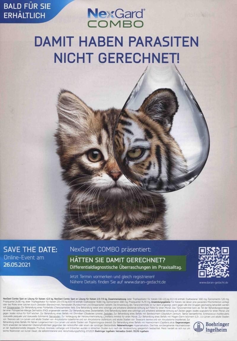 Veterinär-Motiv April 21: Boehringer Ingelheim für NexGard COMBO