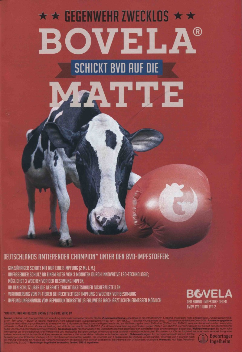 Veterinär-Motiv August 2020: Boehringer Ingelheim für Bovela