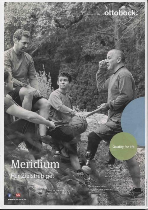 MedTec-Motiv Dezember 2018: Printanzeige ottobock für Meridium