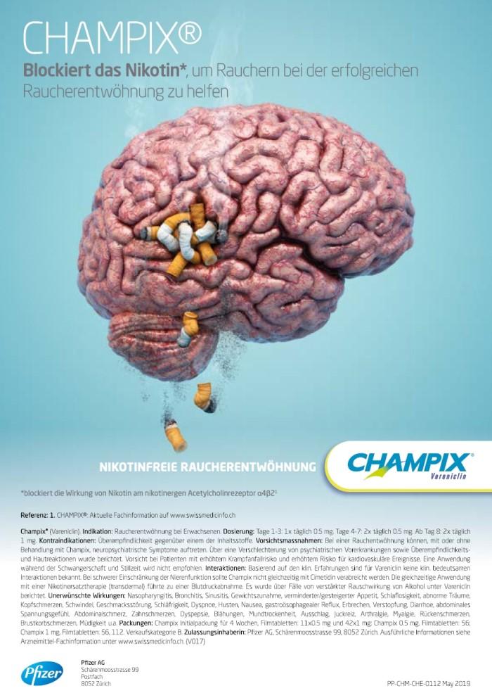 Rx-Motiv Juli 2019: Pfizer für Champix