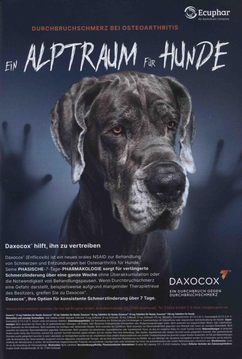 Veterinär-Motiv Juli 2021: Ecuphar für Daxocox