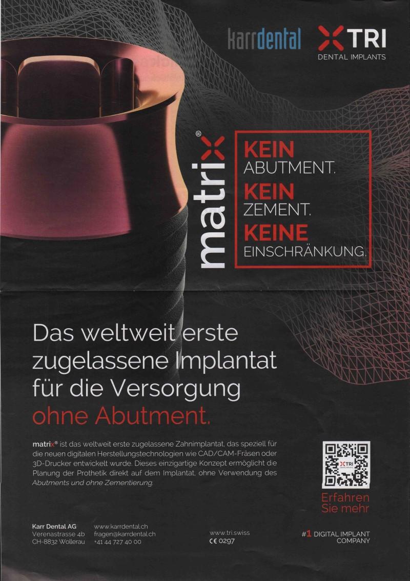Dental-Motiv 09-2021: Karr Dental für matrix