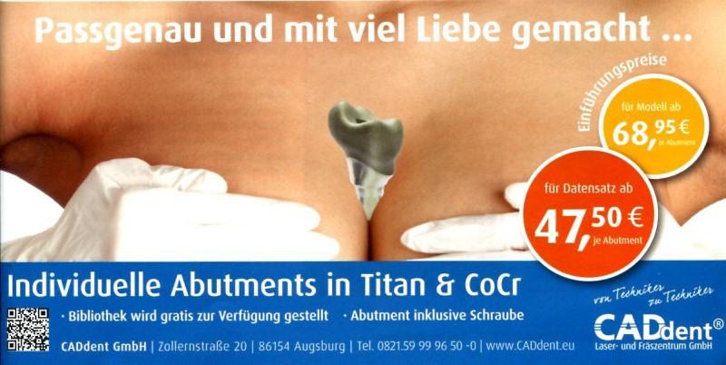 Werbeanzeige von CADdent