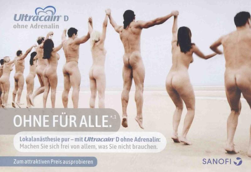 Werbeanzeige von Sanofi Aventis für Ultracain D