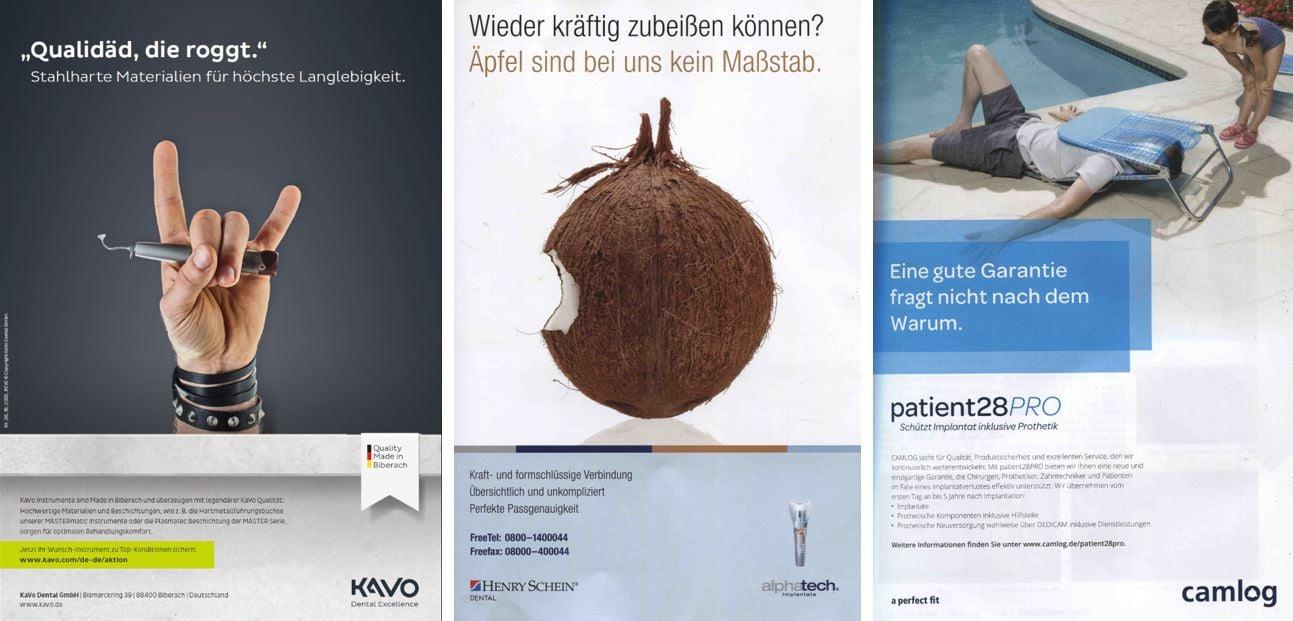 Dentalbranche: Beispiele für humorvolle Werbeanzeigen
