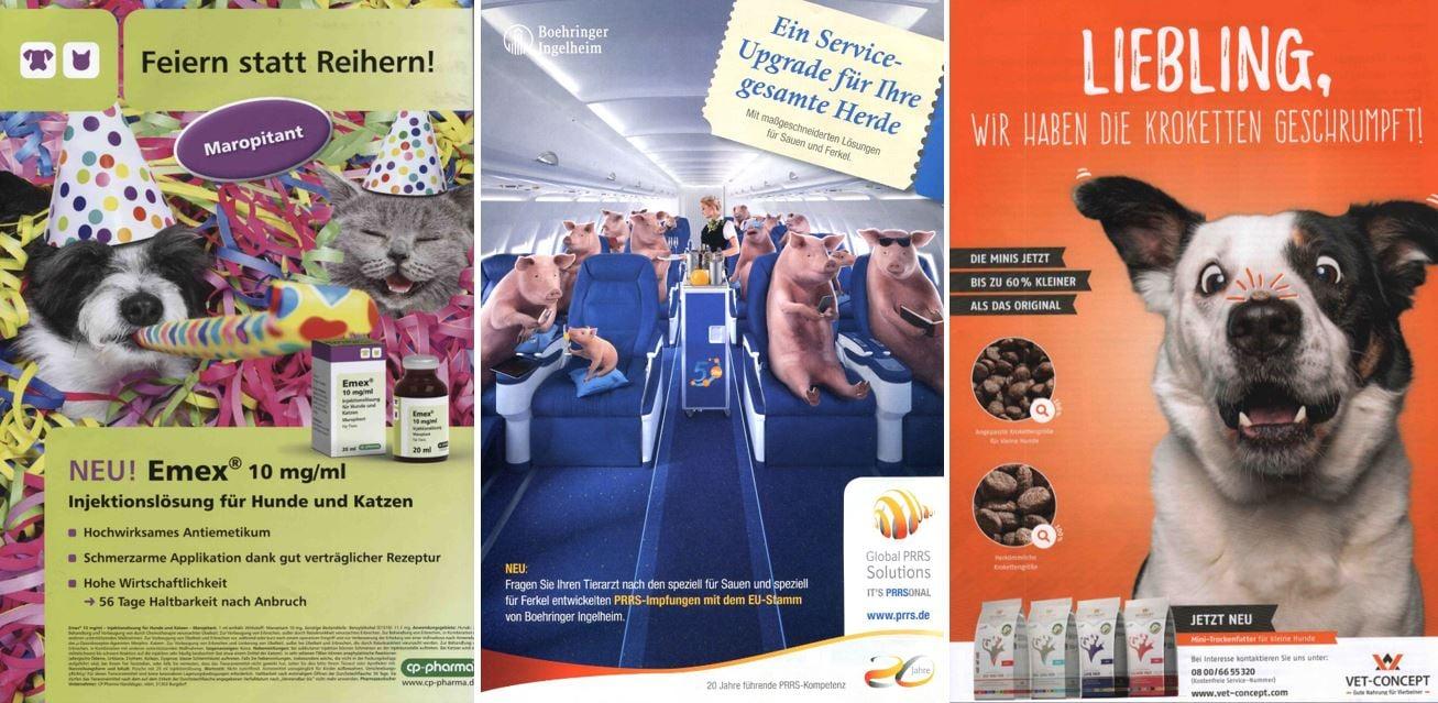 Veterinärmedizin: Beispiele für humorvolle Werbeanzeigen